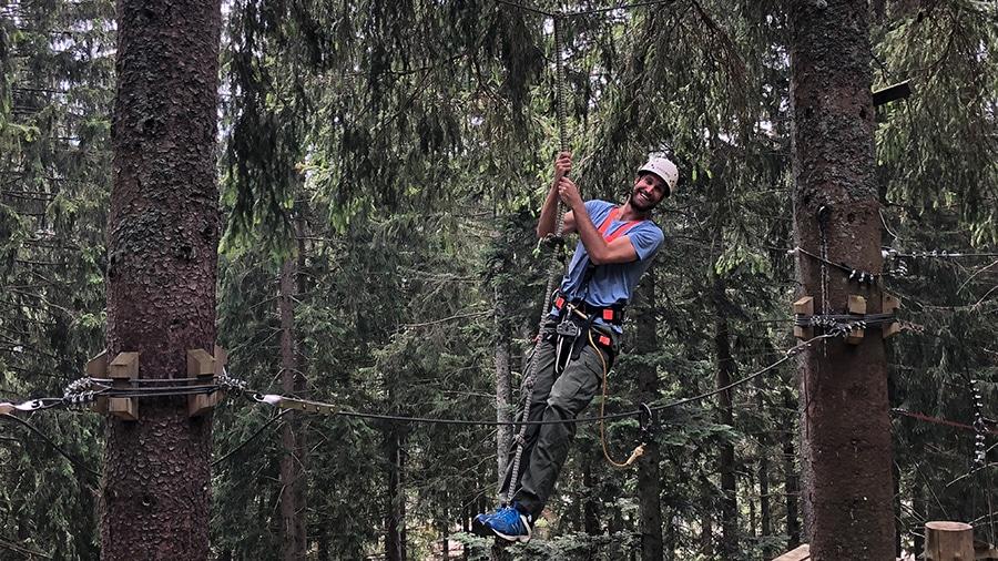Teamausflug Hochseilgarten 2018